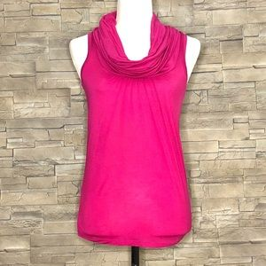 Ted Baker London fuchsia sleeveless cowl top
